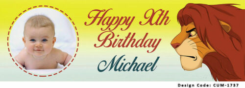 The Lion King Birthday Banners PVC Personalised Banner Vinyl Customised Banner