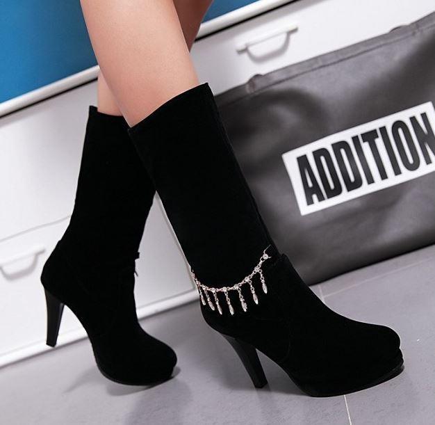 Stiefeletten stiefel schenkel frau absatz stift 10 10 10 cm schwarz simil leder 9390  | Internationale Wahl  c8e5e1
