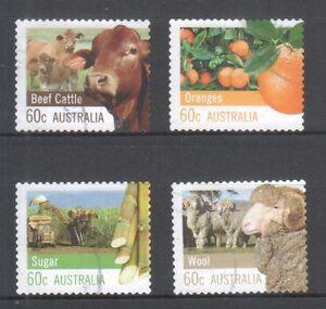 AUSTRALIA-2012-FARMING-AUSTRALIA-COMP-SET-OF-4-STAMPS-IN-FINE-USED-CONDITION
