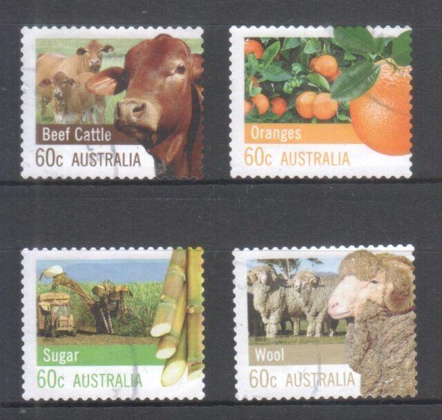 AUSTRALIA 2012 FARMING AUSTRALIA COMP. SET OF 4 STAMPS IN FINE USED CONDITION