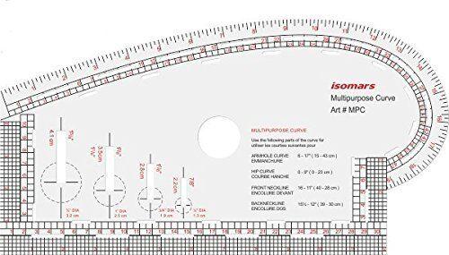 Isomars Multipurpose courbe Vêtement Couture courbe de bonne qualité Pattern Ruler