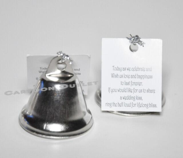 24 Pc Bridal Kissing Bell Wedding Favors Keepsakes Silver Recuerdos