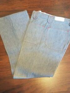 t-273-true-vintage-Mr-Wrangler-flare-leg-jeans-raw-Denim-USA-28-30-100-cotton