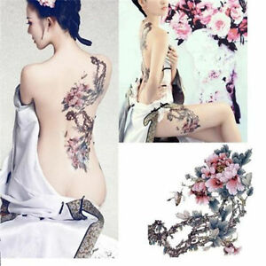 New-Large-Removable-Stickers-Body-Temporary-Tattoos-Waterproof-Flower-Tree