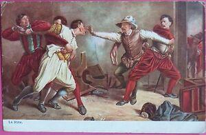 La-Rixe-Meissonier-Tuck-039-s-oilette-1910-series-sign-Picture-Postcards-PPC