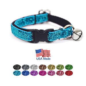 Kitty-Kaboodle-USA-Made-Designer-Breakaway-Sparkle-Cat-Kitten-Pet-Collar-7-11-034
