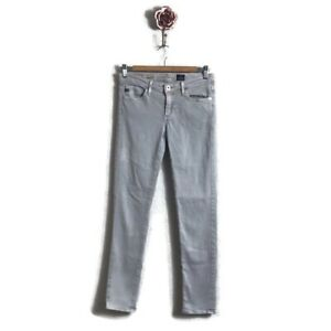 AG-Adriano-Goldschmied-Size-26R-The-Stevie-Ankle-Slim-Straight-Leg-Jeans-Grey