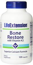 ****Life Extension Bone Restore with Vitamin K2 120 caps****