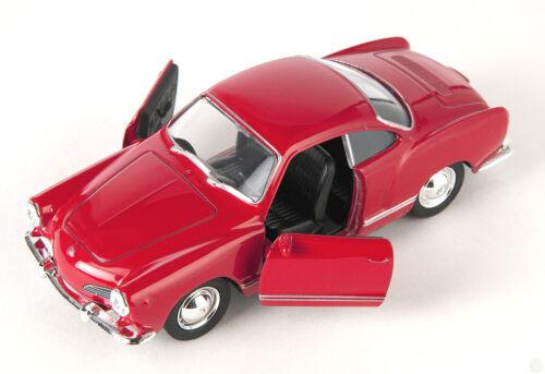 Blitz envío VW Karmann Ghia Coupé rojo//red Welly modelo auto 1:34 nuevo /& OVP