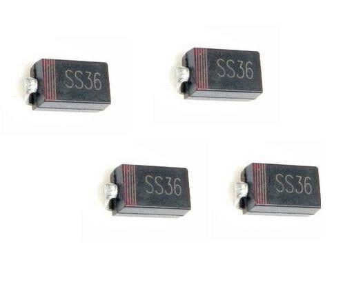 20PCS SS36 SR360 3A/60V SMD Schottky Diode