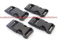 "50 5/8"" FLAT Buckles for Paracord Bracelets Black Side Release Buckles H127-50"
