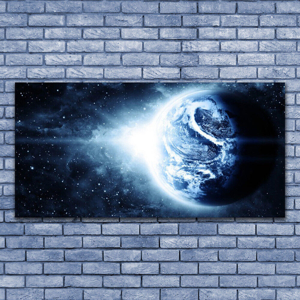 Glass print Wall art 140x70 Image Picture Globe Universe