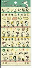 Peanuts Gang Stickers Seals From Japan Friends Snoopy Flowers