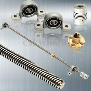 Details about 3D Printer T8 1000mm Lead Screw Rod Coupling Shaft Mounting  Bearing W/ Screw Nut