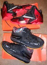 a11ed6a43f12 Nike Lebron XI 11 Low Black Gum Bottom 642849-078 Crimson Air Max ...