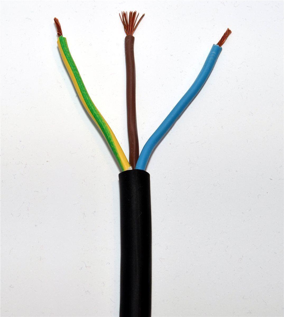 Gummileitung H07RN-F 3x1,5mm² Gummikabel Meterware