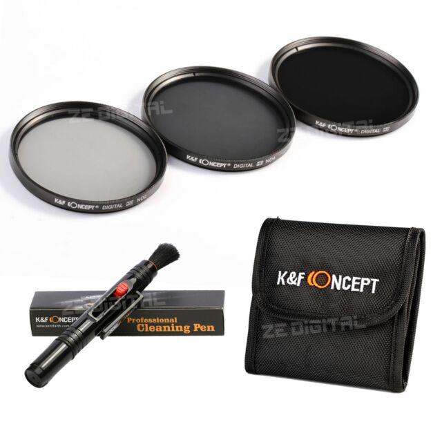 Neutral Density 52mm ND2 ND4 ND8 Filter Kit + Pen for Nikon D3100 D5100 D5500