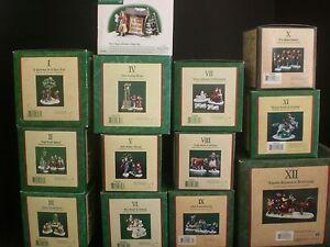 Dept-56-12-Days-of-Christmas-Dickens-Village-13-Piece-Set-12-Days-Sign