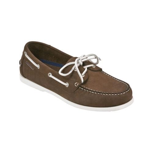 MARINEPOOL Nassau deckschuh Chaussures en cuir Boots Chaussure Hommes /& Femmes Marron foncé