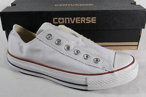 CONVERSE-ALL-STAR-Mocassins-blanc-textile-lin-NEUF