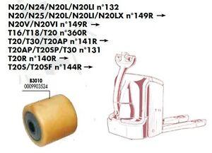 GALET 85 80 85 12 mm TRANSPALETTE ELECTRIQUE FENWICK T16 T18 T20 N°1152 PIECES