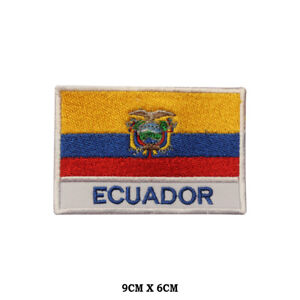 Ecuador National Flag Embroidered Patch Iron on Sew On Badge For Clothe etc