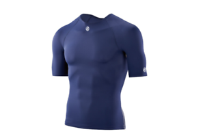 **AUTHENTIC** Skins DNAmic Team Mens Compression Short Sleeve Top NAVY BLUE