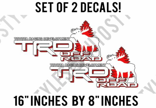 Toyota TRD Moose Truck Off-Road Racing Hunting Tacoma Decal IDENTICAL PAIR