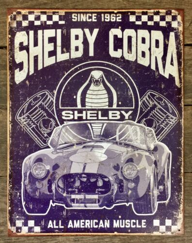 FORD Shelby Cobra Since 1962 Vintage Tin Metal Sign
