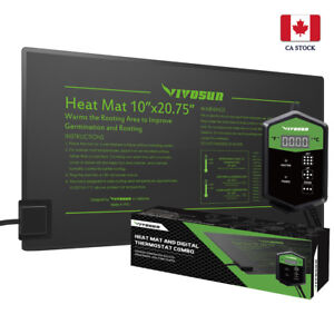 VIVOSUN-10-034-x-20-034-Seedling-Heat-Mat-amp-Digital-Thermostat-Combo-Set-for-Seed