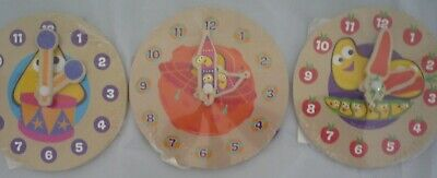 1 X Cbeebies My First Wooden Learning Clock Fun And Learning For Kids Children