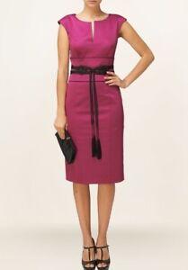 Dress Cerise New Phase Belt Black Tassel Sz Eight Pink 8 With Vanessa Uk xqwRaXF