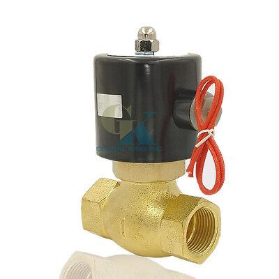 """G1//2/"""" Brass Electric Solenoid Valve 220VAC//24//12VDC Waterproof Water Gas Oil NC"""