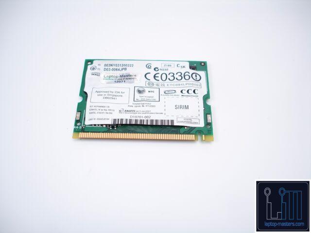 Dell Latitude D410 Wireless WLAN Card Windows