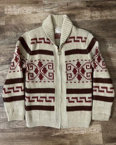 Vintage 70s Pendleton Knit Sweater M Shawl Collar
