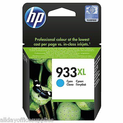 Genuine HP 933XL High Yield Print Cartridge Cyan VAT Included - *£10 Cashback*