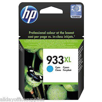 Hp 933xl - Print Cartridge - 1 X Cyan Original VAT Included OfficeJet 6100,6600,