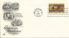 1972 Colonial American Craftsmen First Day Covers - Set of 4