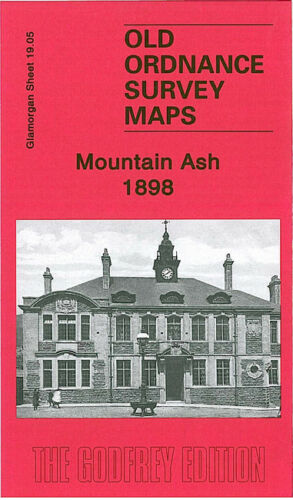 OLD ORDNANCE SURVEY MAP MOUNTAIN ASH 1898 MISKIN NEWTOWN GRAIG ISAF TOWN HALL