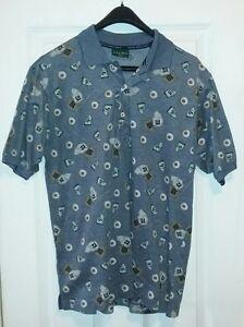 0f617ee47 Hugo Boss Golf Ball Golfing All Over Print Polo Shirt Men's Medium M ...