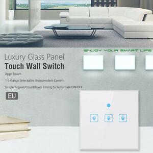 EU-Smart-WiFi-Three-Way-Button-Switch-For-Amazon-Alexa-Google-Home-App-Control-L