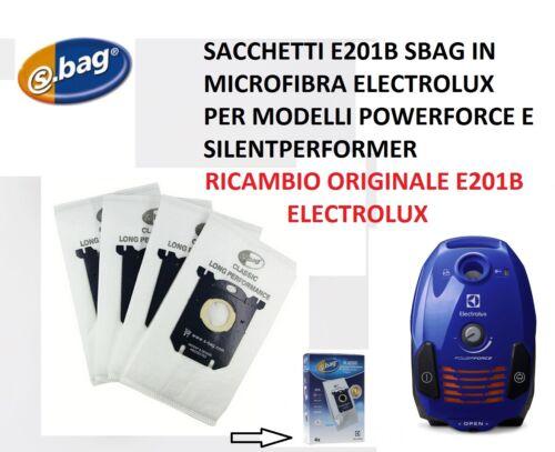 SACCHETTI E201B SBAG  ASPIRAPOLVERE ELECTROLUX ORIGINALI POWERFORCE ZPFALLFLR