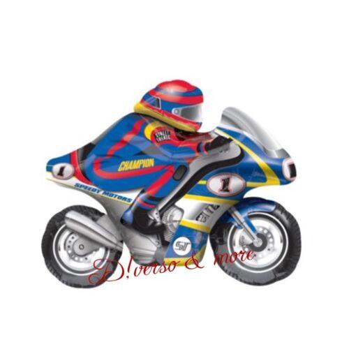 XXL Motorrad Biker mit Helm Superbike Luftballons Folienballons  Helium Kinder