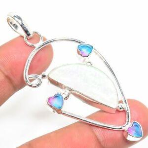 Tripelet-Fire-Opal-Pink-Topaz-Handmade-Ethnic-Style-Jewelry-Pendant-2-56-034-AA-295
