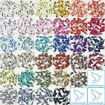 20 St. Metall Zipper für #3 endlos spirale Reissverschluß 33 Farben Schieber