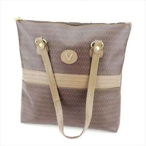 Mario Valentino Tote bag Beige Brown PVC Leather Woman Authentic ... c6e5754080e46