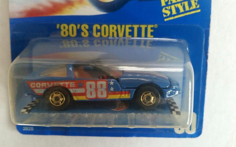 VERY RARE- '80'S CORVETTE - blueE CARD- HOT WHEELS-RARE-ORIGINAL-VHTF