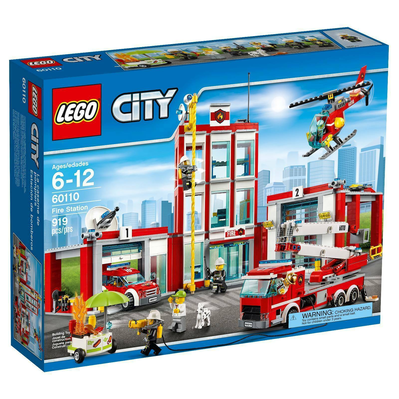 LEGO 60110 City  Fire Station Discontinued  haute qualité