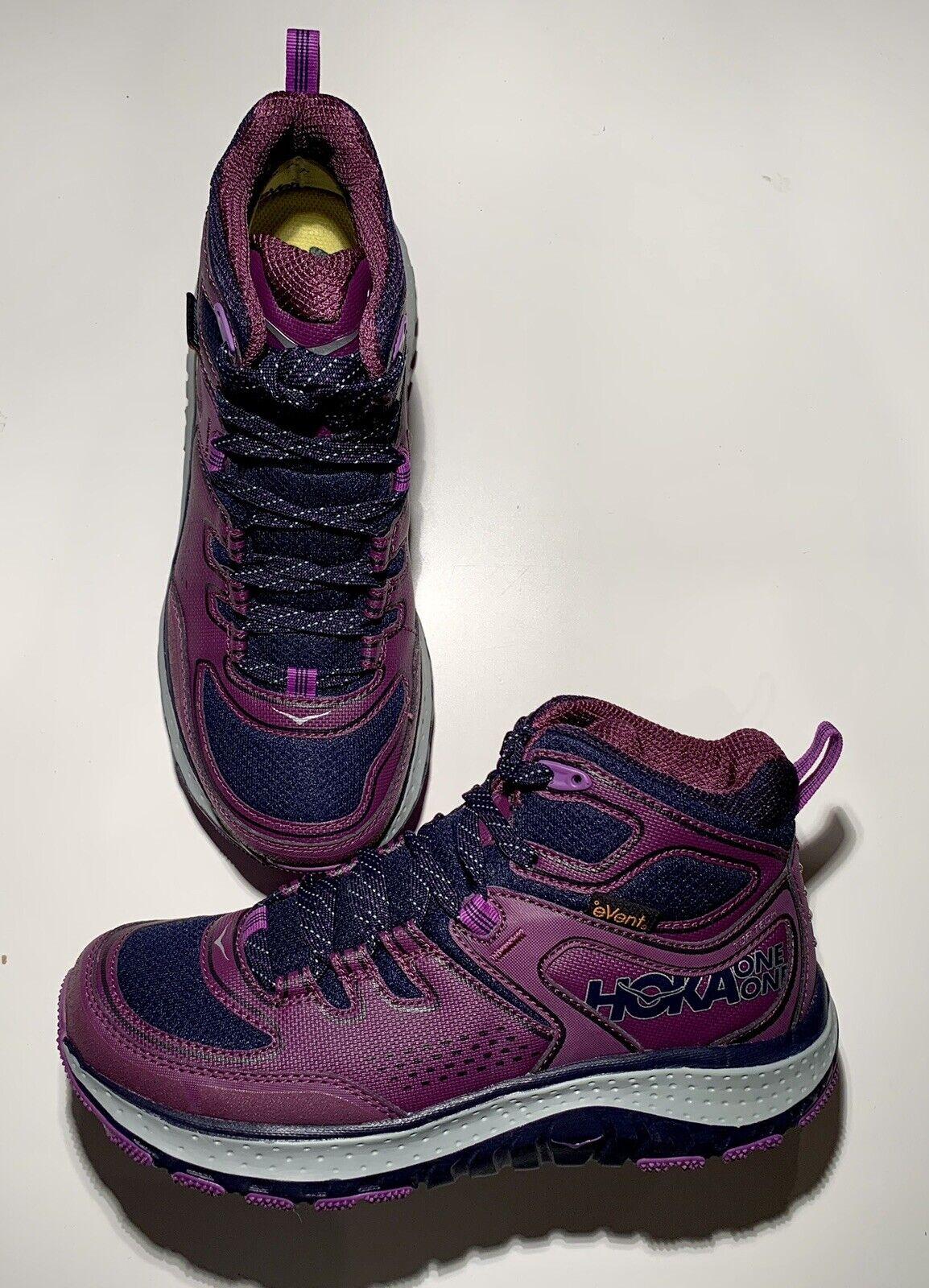Hoka One One Tor Tech Mid WP Chaquetón Plum Senderismo Zapatos Para mujeres EE. UU. 7 Nuevo Sin Caja B3