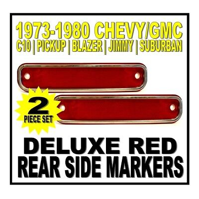 19 73 74 75 76 77 78 79 80 Chevy GMC Truck C10 Rear Deluxe Red Side Markers